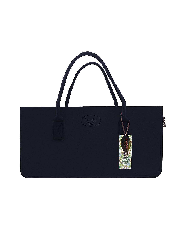 Raikou® Kult Grand sac de courses en feutre Sac de shopping Cheminée, jouets, sac de plage, sac pour bois de cheminée, journaux Panier, corbeille à linge, Sac, panier à bouteilles, Sac de jardin, panier de pique-nique, bleu DESEN