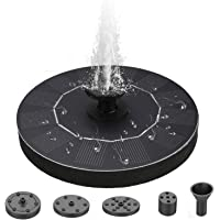 Neween Solar Fountain for Bird Bath 1.5W Upgraded Floating Matte Water Fountain Pump for Garden, Pool or Pond