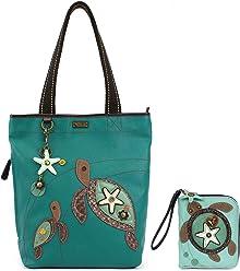 52abd70cdbb3 Chala Handbags Everyday Zip Totes Shoulder bag and Wallet Combo Set