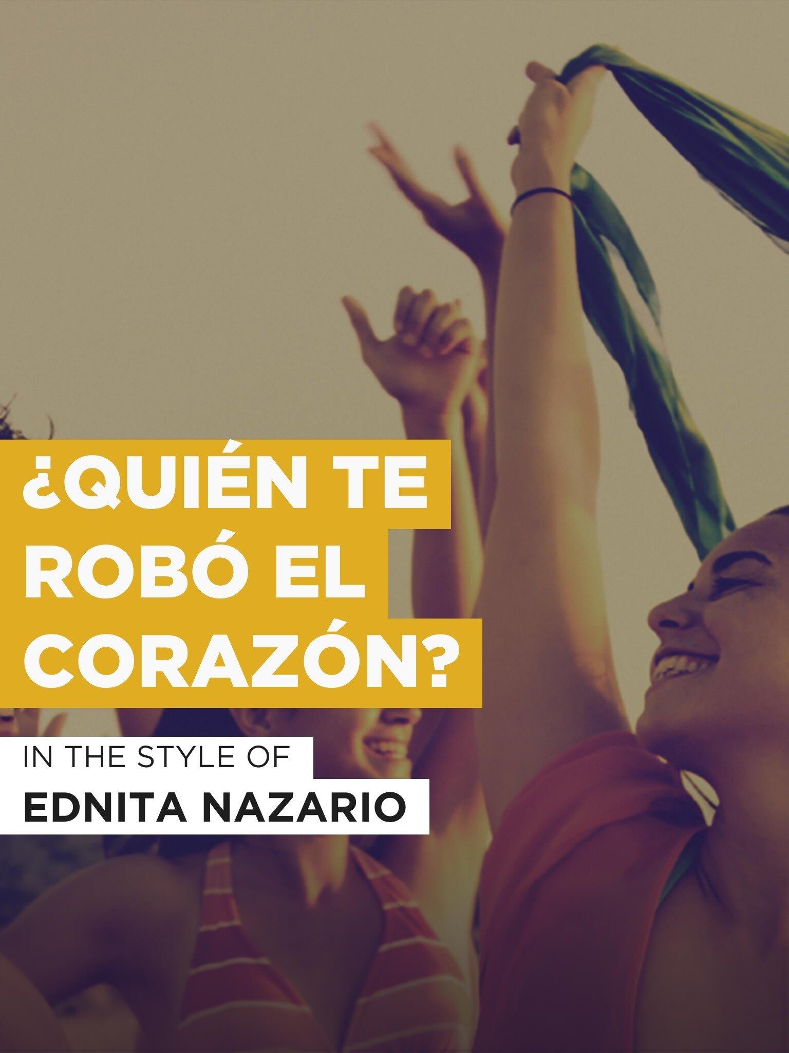 Amazon.com: ¿Quién Te Robó El Corazón?: Ednita Nazario, Not ...