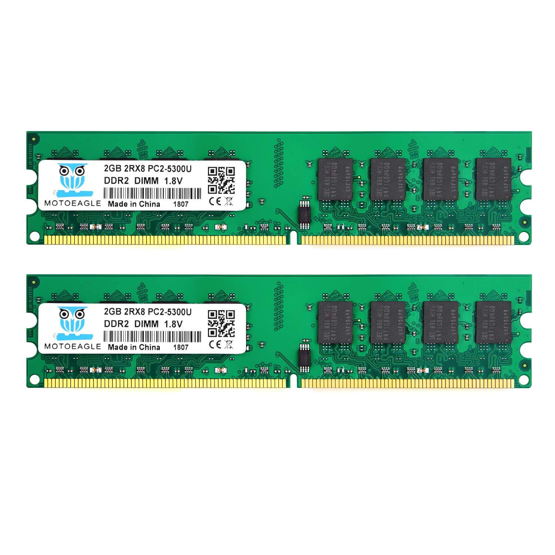 Memoria Ram 4gb Ddr2 667 Mhz Pc2-5300 Motoeagle 2rx8 Pc2-5300u Cl5 Kit (2x2gb)