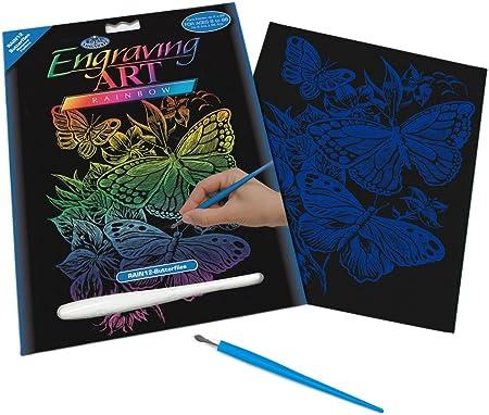 Royal Brush Mini Rainbow Foil Engraving Art Kit 5X7 Butterflies RAIMIN-102 6-Pack Bulk Buy