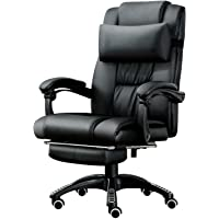 JL Comfurni New Design Gaming Chair Chesterfield Ergonomic Swivel Office Chair High Back Heavy Duty Home Office Computer Desk Chair Faux Leather Recliner Sport Racing Chair ((Type 1 Black)