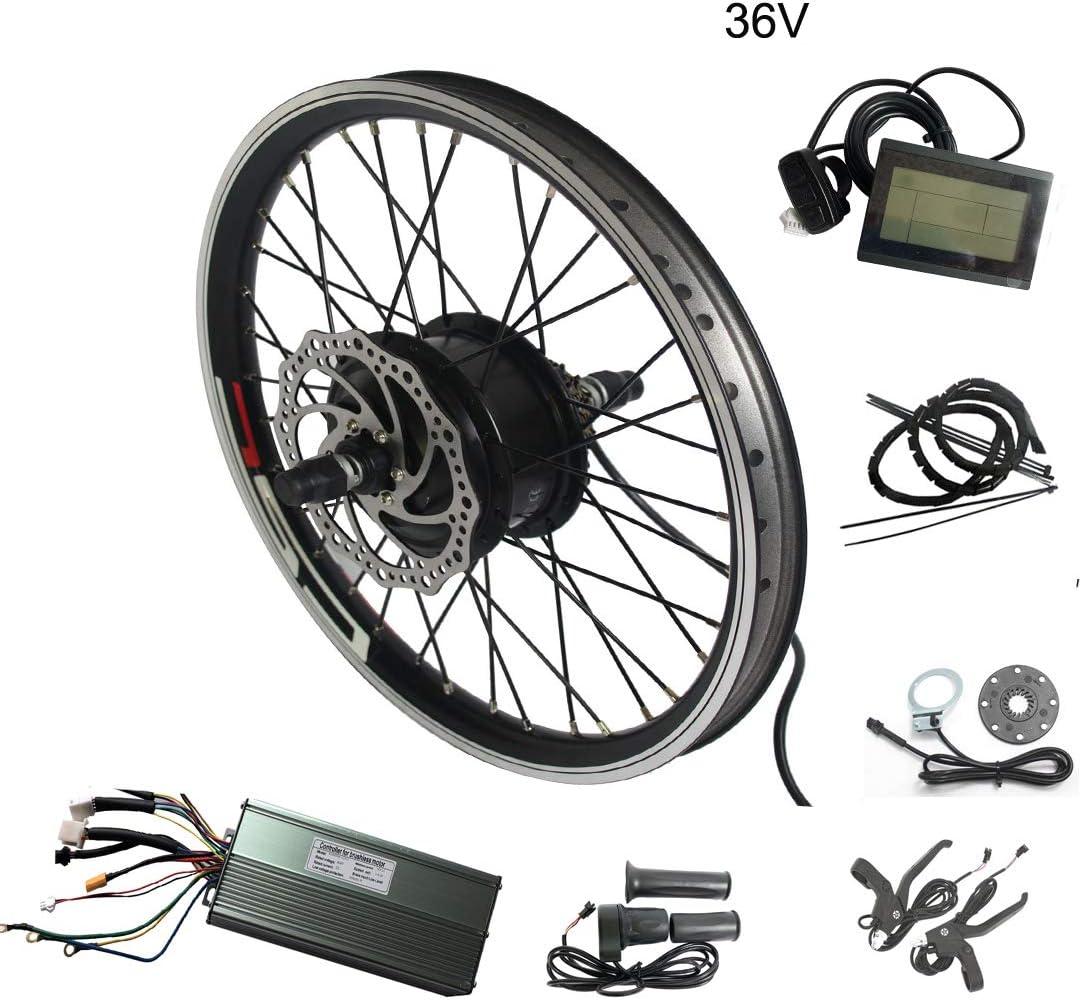 WENHU 20 Pulgadas 48V 1500W-Batería de Bicicleta eléctrica Kit de conversión de Bicicleta eléctrica Rueda de Motor Bicicleta Ebike E: Amazon.es: Deportes y aire libre