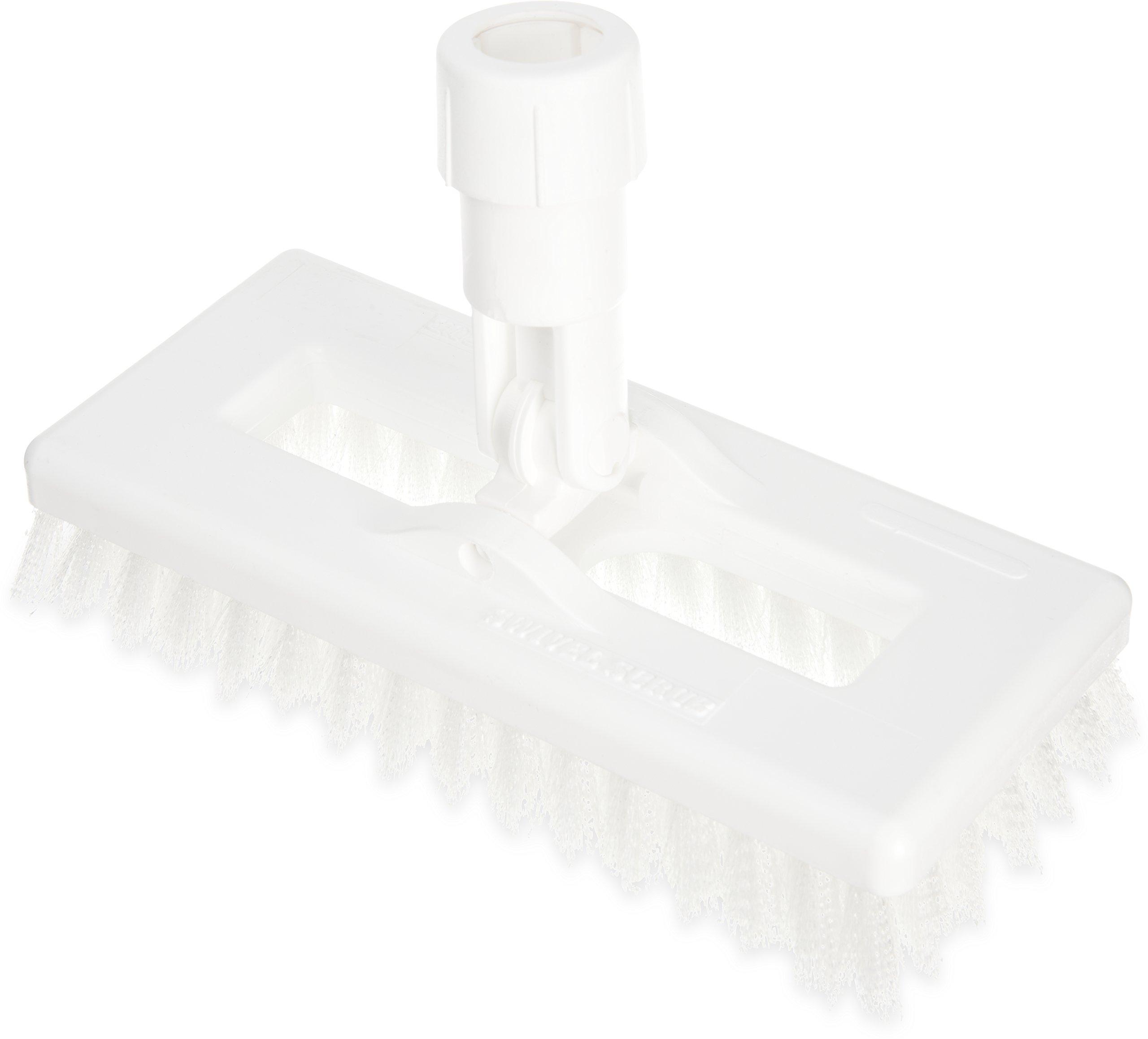 Carlisle 363883102 Swivel Scrub Brush, 8'', White