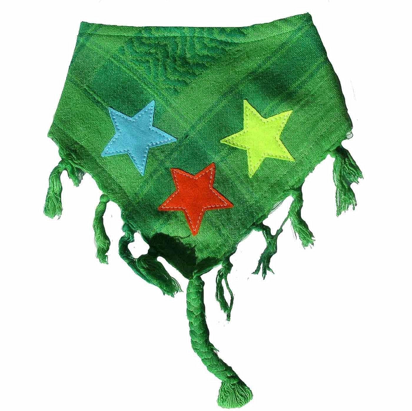 P.Eisenherz Baby Halstuch Sterne grün