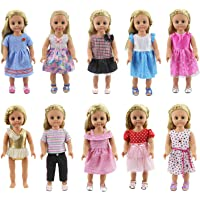 XADP 18 Inch Doll Clothes 10 Different Unique Styles Outfits for American Girl Doll, My Life Doll, My Generation Doll…