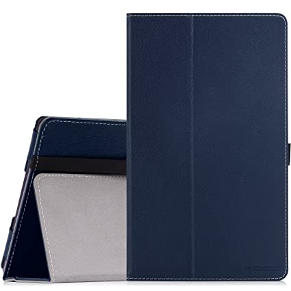 MoKo Lenovo Tab3 A8 / Tab2 A8 Case, Ultra Compact Premium Slim Folding Stand Cover Case for 2015 Release Lenovo Tab 2 A8-50, 2016 Release Lenovo Tab 3 ...