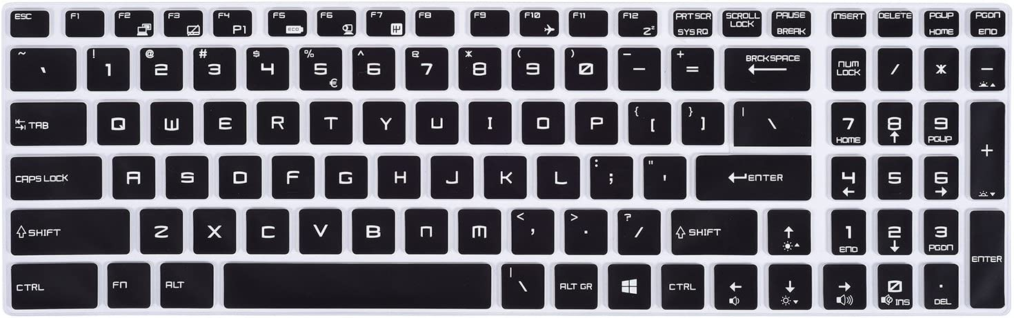 for MSI Laptop Keyboard Cover for 15.6 inch MSI GL62M GF62 GP62 GT62VR GE63VR GP63 GS63VR WS60 WS63VR, 17.3 inch MSI GS75 GE75 GF75 GL72 GP72MX GS73 GE73VR GS73VR GT73 GT73VR GV72 GT72 GT72S Laptop