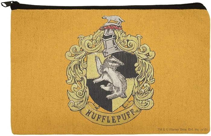 Harry Potter Hufflepuff - Bolsa organizadora de maquillaje con escudo pintado