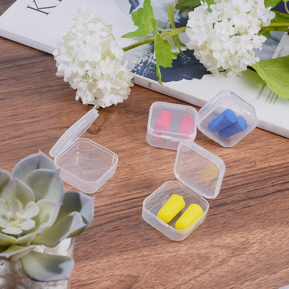 3,7 x 3,7 x 1,8cm Jewerlry-Ergebnisse Kr/äuter kleine Perlen BENECREAT 18-Pack Pillen quadratische durchsichtige Kunststoffperlen-Aufbewahrungsbeh/älter Schachtel mit Klappdeckeln f/ür Kleinteile