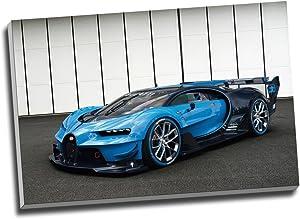 Panther Print Bugatti Vision Gran Turismo Hypercar Super Car Canvas Print Wall Art Picture Canvas Prints Large A1 30 X 20 Inches (76.2Cm X 50.8Cm)