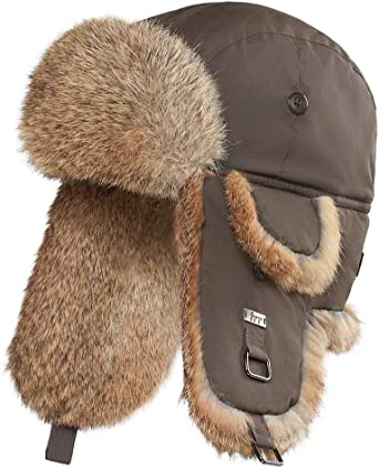 frr Buffalo Check Rabbit Fur Aviator Hat