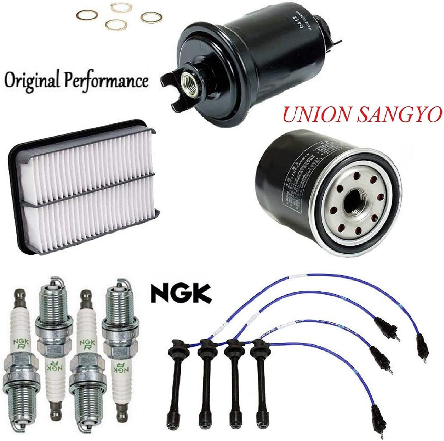 Tune Up Kit Filters Spark Plugs Wire Set FIT Toyota Tacoma L4; 2.4L; 2.7L 1997-2001