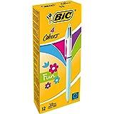 BIC 4 Colours Fun Ballpoint Pens Fashion Colours 12 Box