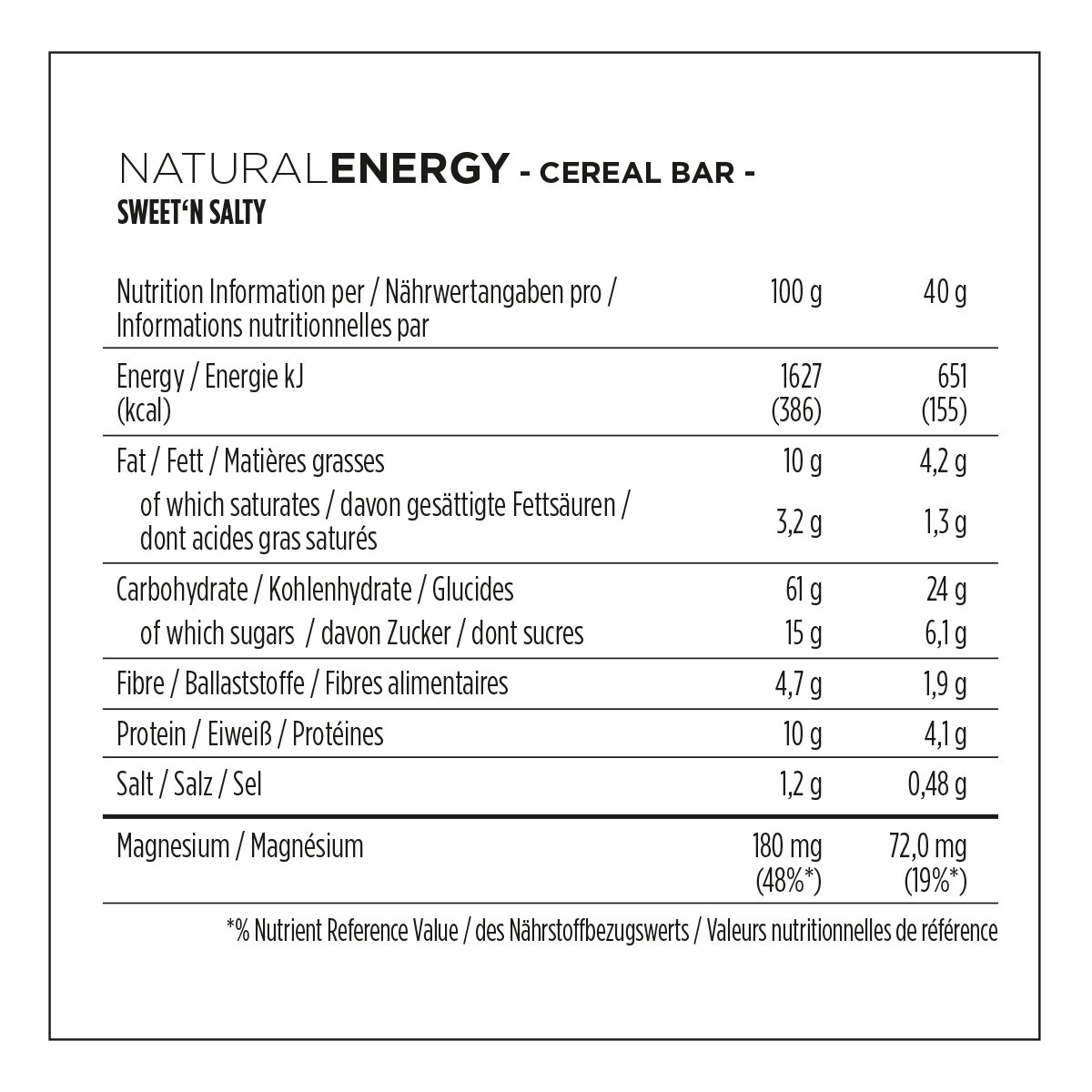 Powerbar Natural Energy Cereal Bar + Magnesium Sweetn Salty - 24 Barras: Amazon.es: Alimentación y bebidas