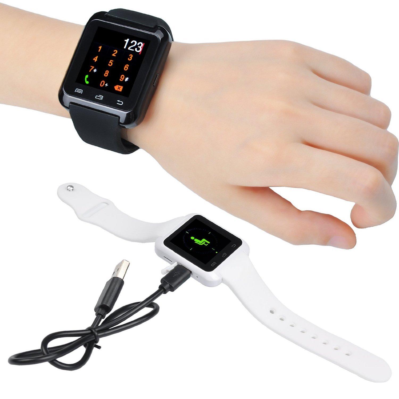Reloj inteligente, Myfei U80 Bluetooth reloj inteligente pulsera actividad Deporte Ejercicio Fitness dormir Tracker podómetro con pantalla táctil cámara ...