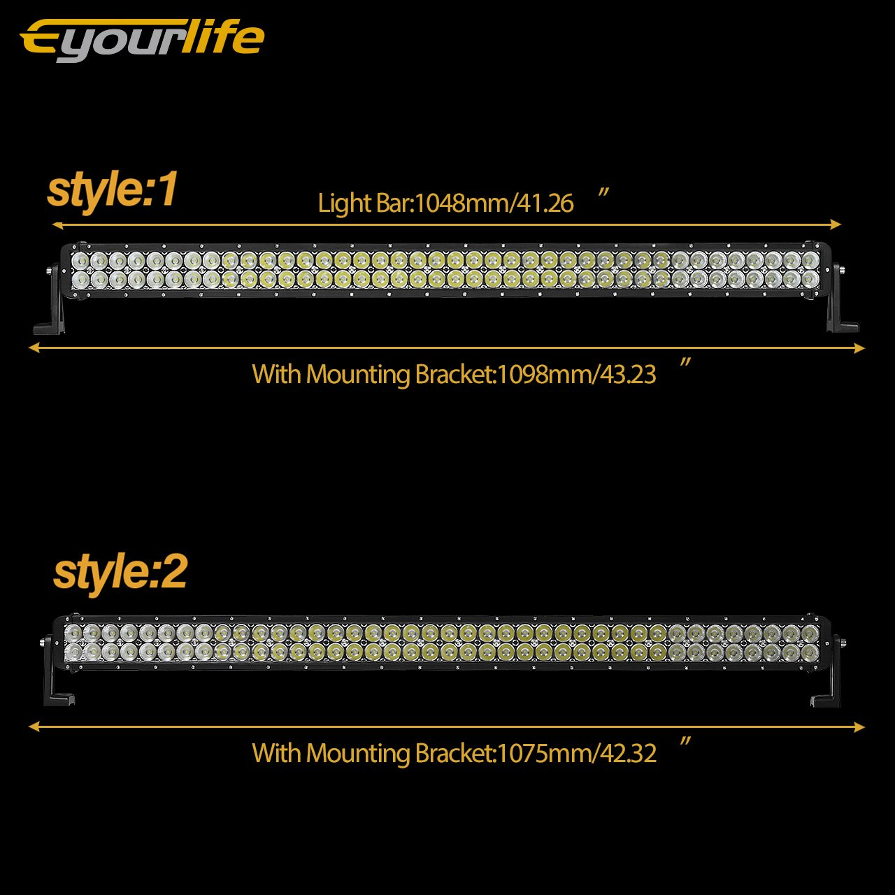 Led Light Bar Eyourlife 42 240w Spot Flood Combo 52quot 300w Cree 100led Driving Work Fog Lightswiring Harness Clear Visibility High Efficiency Heat Dissipation Jeep Off Road Lights