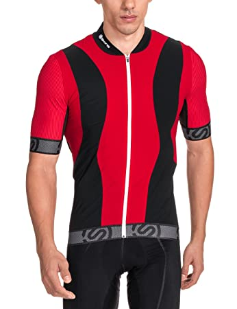 Skins Men s Cycle Jersey Short Sleeve Tremola Multi-Coloured Red Black    White Size ef6eb8a6d