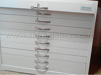 Microscopic Slide Storage Cabinet Store 10000 Slides Of 75mm X 25mm