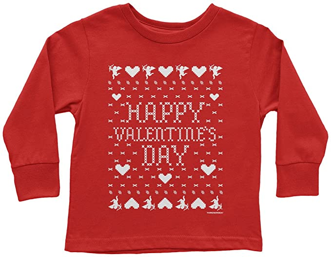 Amazon Com Threadrock Kids Happy Valentine S Day Ugly Sweater