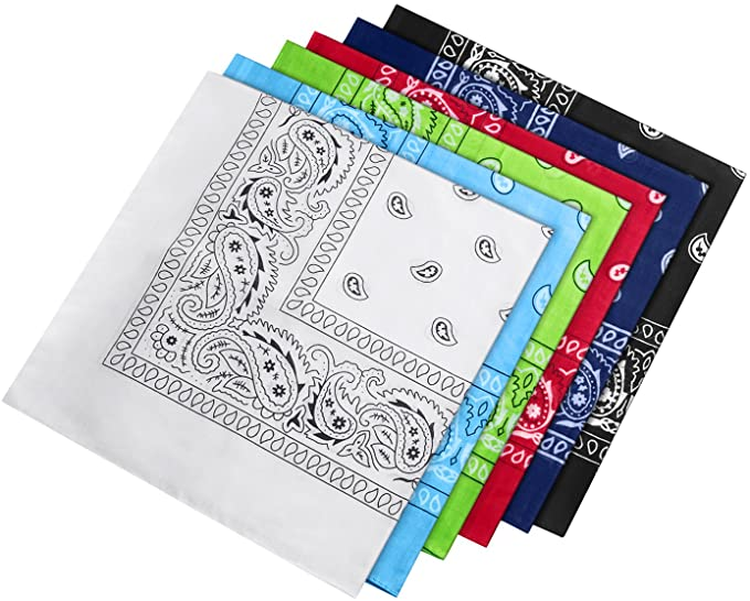 HBselect 6 Piezas Unisex Pañuelos Cabeza Mujer Algodon Multicolor ...