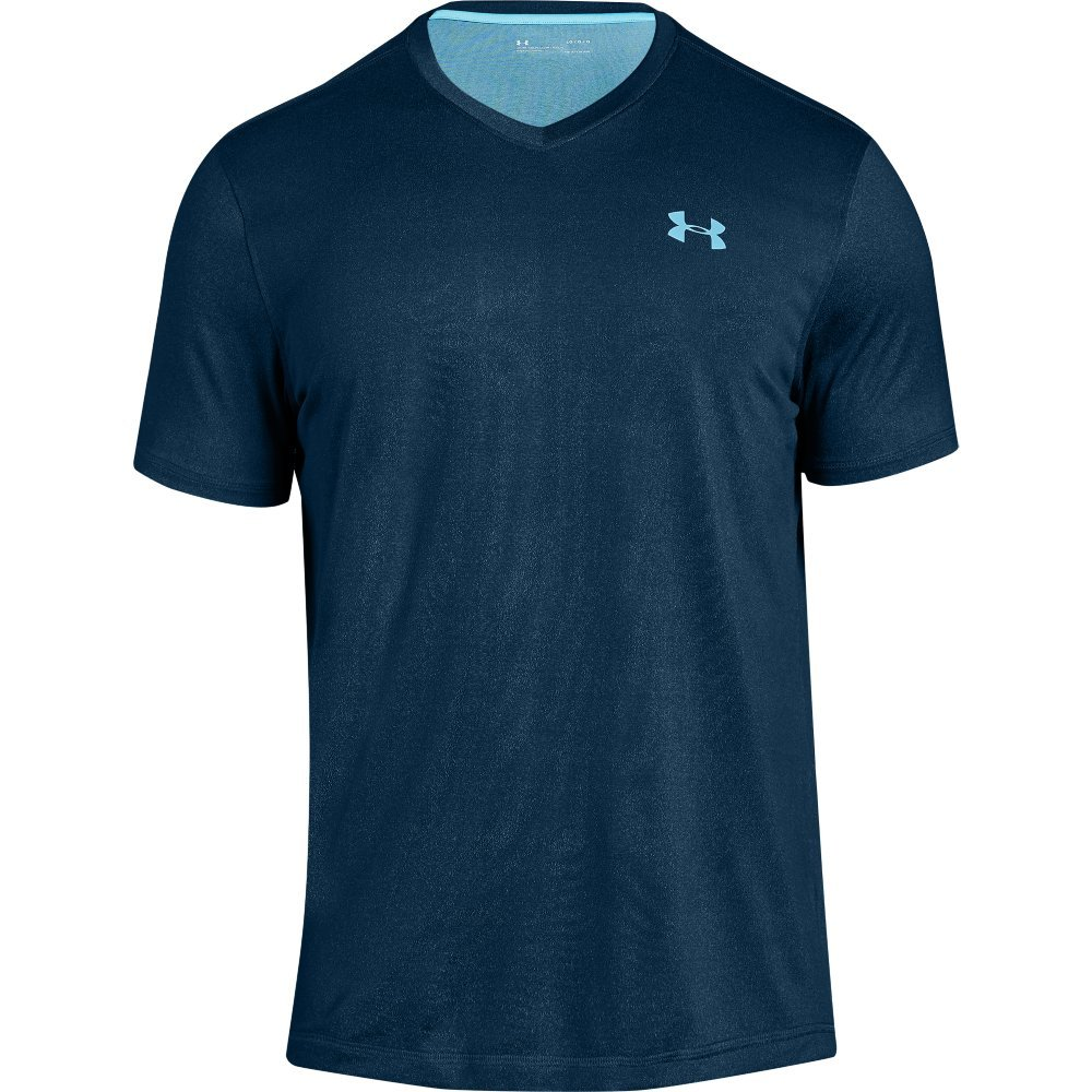 Clothing, Shoes & Accessories Under Armour Heatgear Loose T-shirt V-neck Heather Blue Women's Size L Perfect In Workmanship Activewear Tops