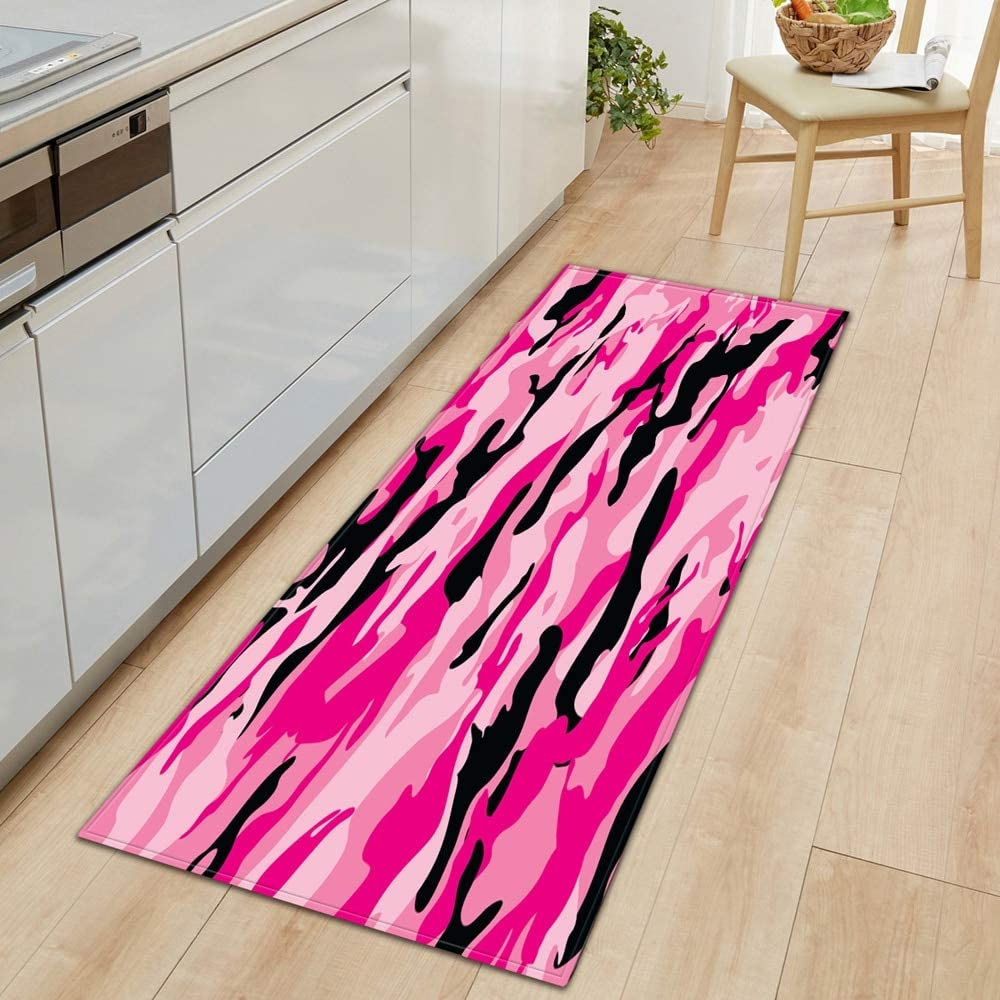 HLXX Kitchen Modern Home Long Door mat Living Room Decoration Bedroom Balcony Corridor Non-Slip Bathroom mat A19 50x80cm