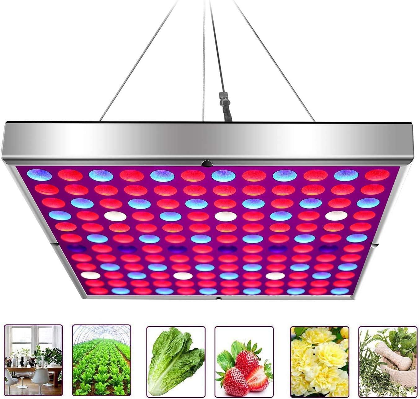 Gtmar 45W LED Grow Light for Indoor Plants Growing Lamp for Greenhouse Tent Indoor Succulent Plants Seedlings Flowering Veg Bloom Hydroponic Garden