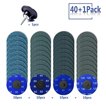 3 inch Roloc Quick Change Discs Set Surface Conditioning Discs for Die Grinder Surface Prep Strip Grind Polish Finish Burr Rust Paint Removal Zirconia Sanding Discs with 1//4 Holder.75Pcs