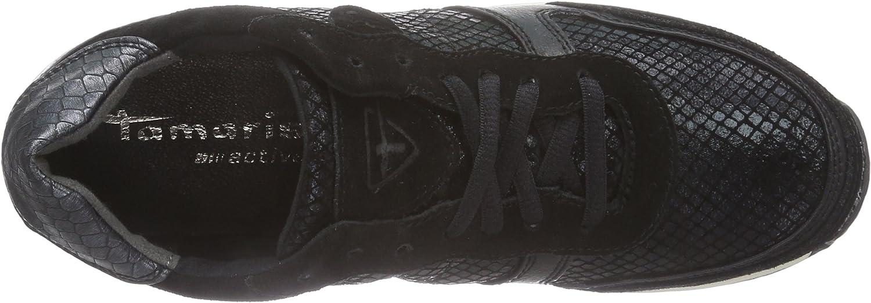 Tamaris 23602 Damen Sneakers Mehrfarbig Blk Blk Struct 052