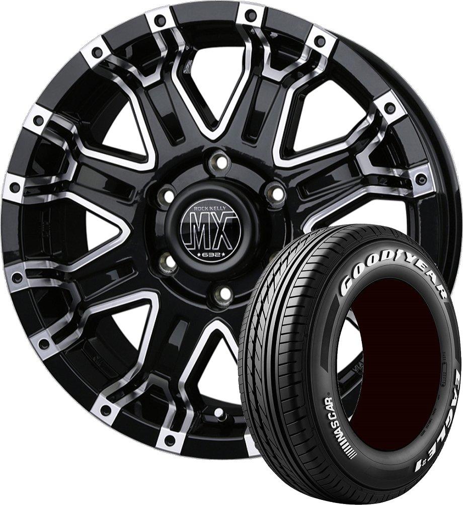 (ハイエース用)サマータイヤホイール 1本セット 17インチ GOODYEAR(グッドイヤー) EAGLE #1 NASCAR (ナスカー) 215/60R17 109/107R + ロックケリーMX-II B07B48KMBV
