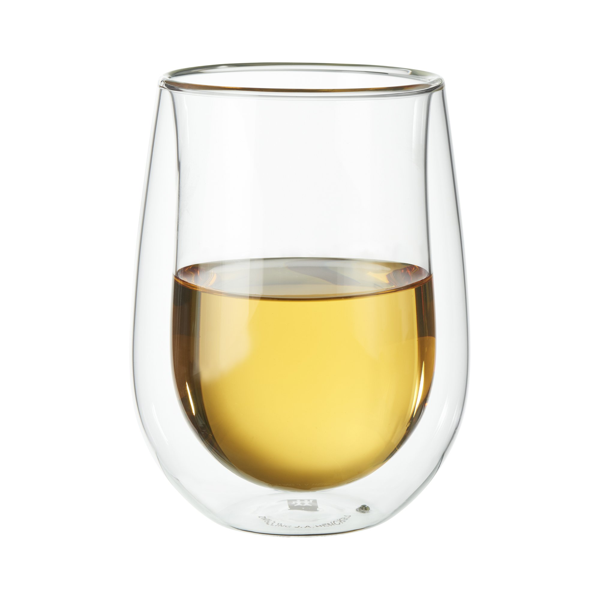 ZWILLING J.A. Henckels 39500-212 Double-Wall Stemless Wine Glass Set, 10 fl. oz, White