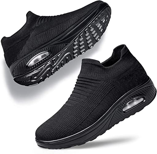 Women Air Cushion Sneakers Casual Breathable Mesh Walking Slip-On Sock Shoes USA