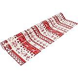 Papier cadeau rouge et blanc - Taille Unique