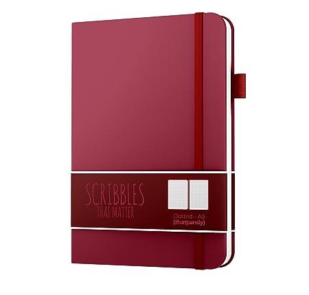 Bullet Journal von Scribbles That Matter - Keine Blutung A5 Hardcover Gepunktetes Notizbuch mit Innentasche - Füllfederhalter