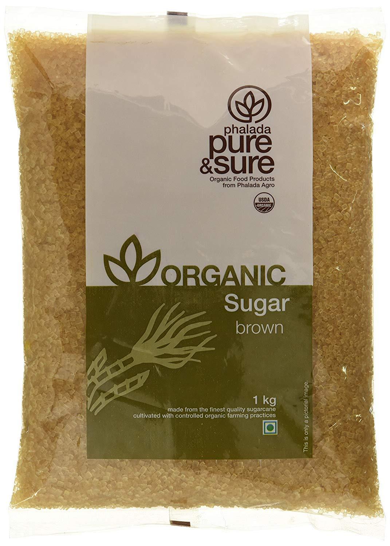 Pure & Sure Organic Sugar, Brown, 1kg