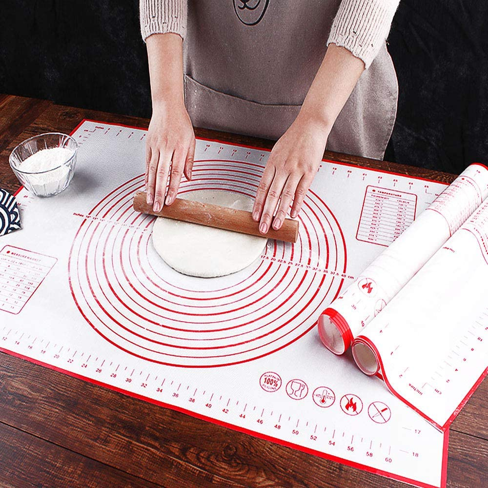 f/ür Kuchen // Teig // Pizza blau. wiederverwendbar Antihaft-Backmatte aus Silikon leicht zu reinigen 50 * 40 cm leicht zu lagern hitzebest/ändig