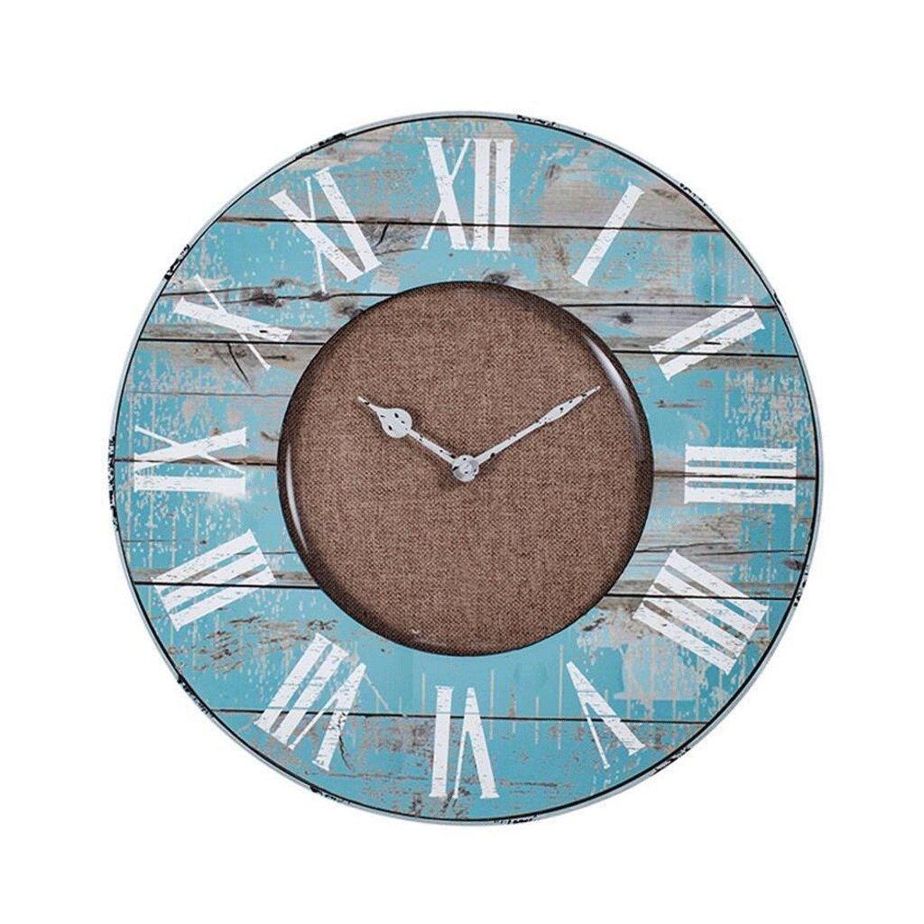 LINGZHIGAN レトロ壁時計リビングルームウッド時計ラウンドガラス時計 ( サイズ さいず : 403*403mm ) B07C7G7KFN403*403mm