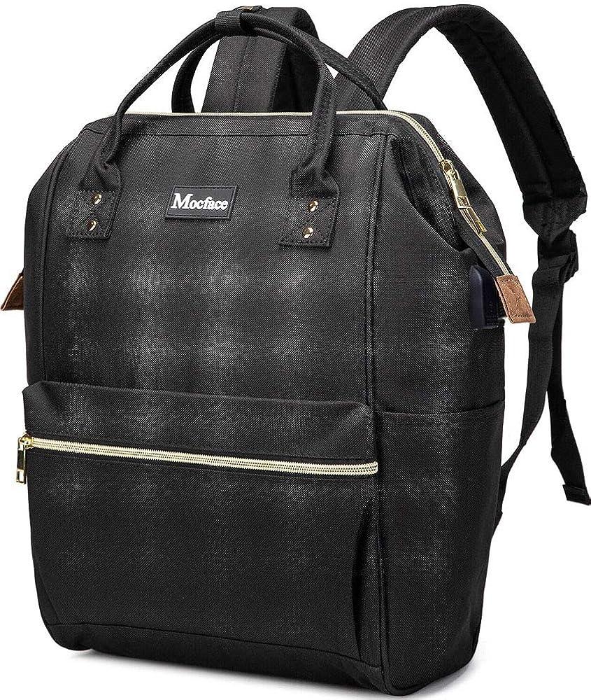 MOCFACE Laptop Backpack Travel School Backpack with USB charging Port 15.6 Inch Stylish Work Bag for Women&Men