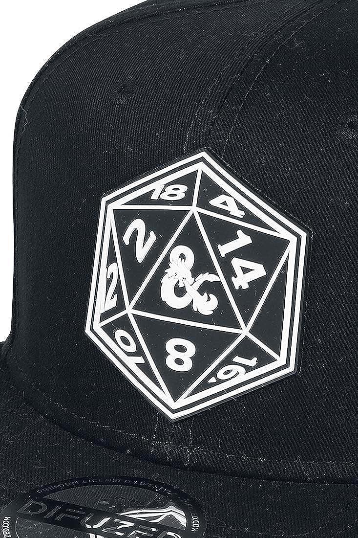 Dungeons and Dragons Baseball Cap Symbol Logo Official Black Snapback