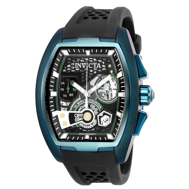 Invicta Men 's 25942 s1 Rally Quartz多機能グリーン、ブラックダイヤル腕時計 B07911Z156