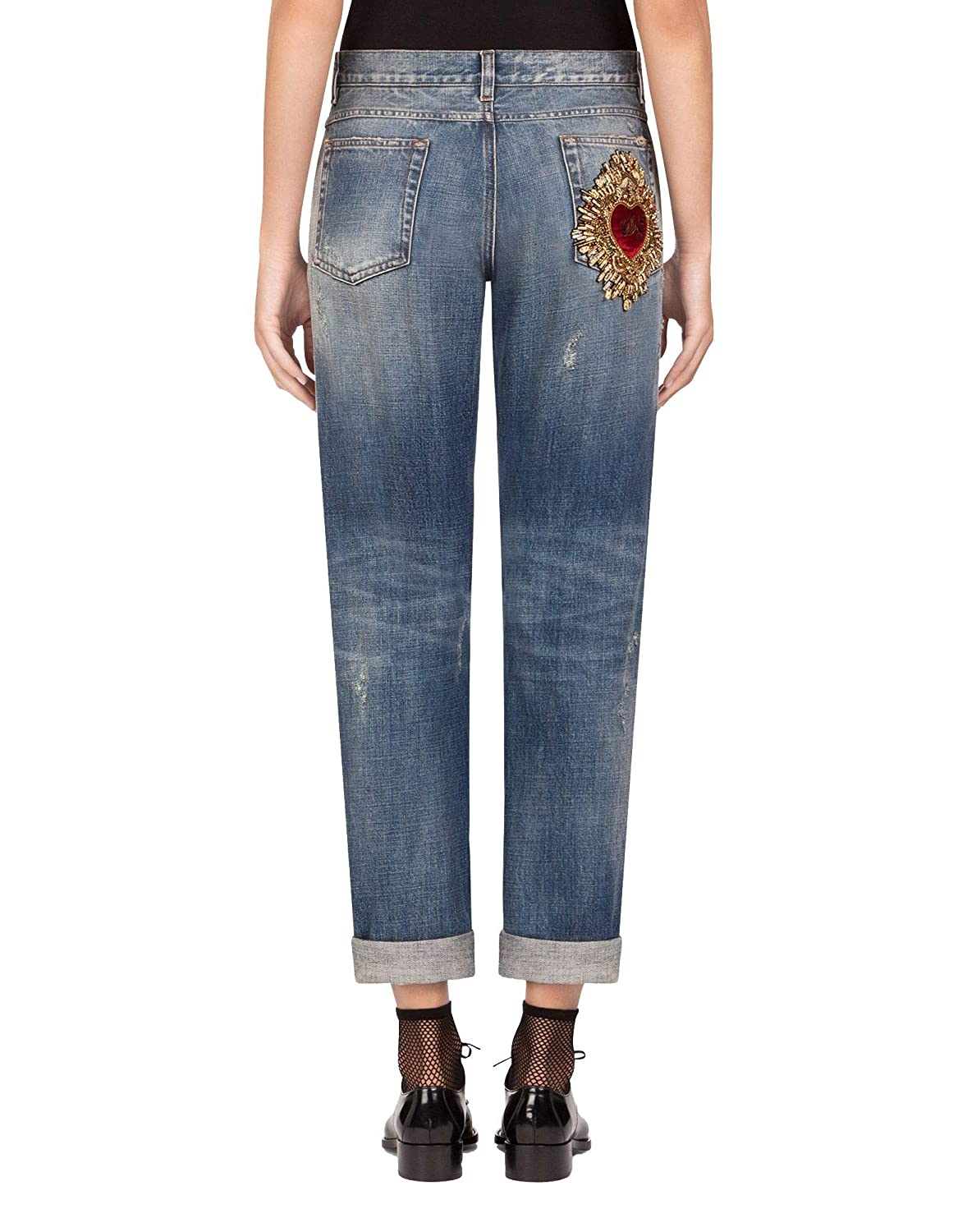 the latest 7eeb6 242ba Dolce e Gabbana Women's FTBI2ZG8X99S9001 Blue Cotton Jeans ...