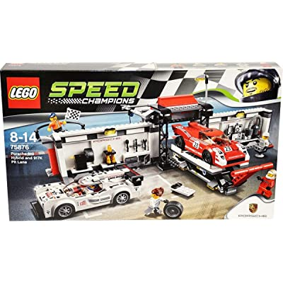 Lego Speed Champions Porsche 919 Hybrid and 917K Pit Lane 75876: Toys & Games