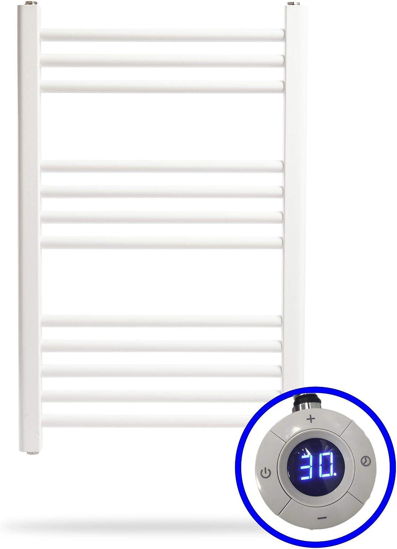 ClimaSpain Radiador Toallero Eléctrico Tenerife · Toalleros Eléctricos (Medidas 800 x 500 mm) 400 Watios · Secatoallas En Color Blanco * 10 AÑOS de Garantía