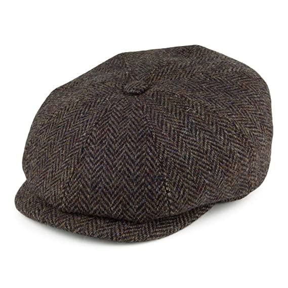 18c0b560e16 Stetson Hats Hatteras Harris Tweed Newsboy Cap - Olive Multi 55 ...