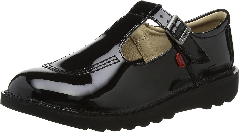 Kickers Girls Black School Shoes Size