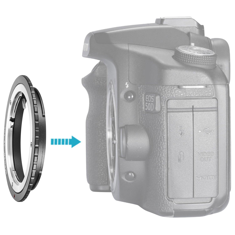 Queda Canon EOS 1D 1DS Mark II III IV 5D Mark II 7D 40D 50D 60D 70D 550D 600D 650D 700D 100D 1100D Neewer/® Adaptador de montaje de lentes para Olympus OM Zuiko Lentes a Canon EOS EF Cuerpo de c/ámara
