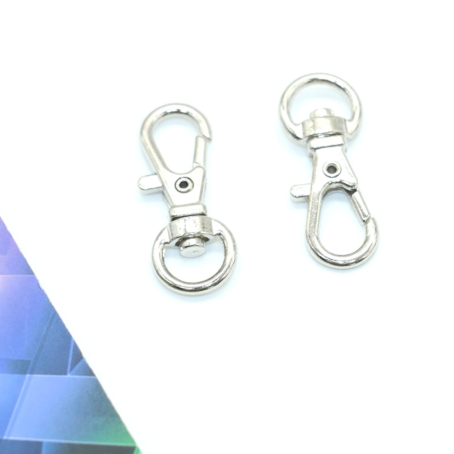 Pack of 50 Metal Small Swivel Clasps Lanyard Snap Hook Lobster Claw Clasp Jewelry Findings By IDS,1 1//4 x 1//2