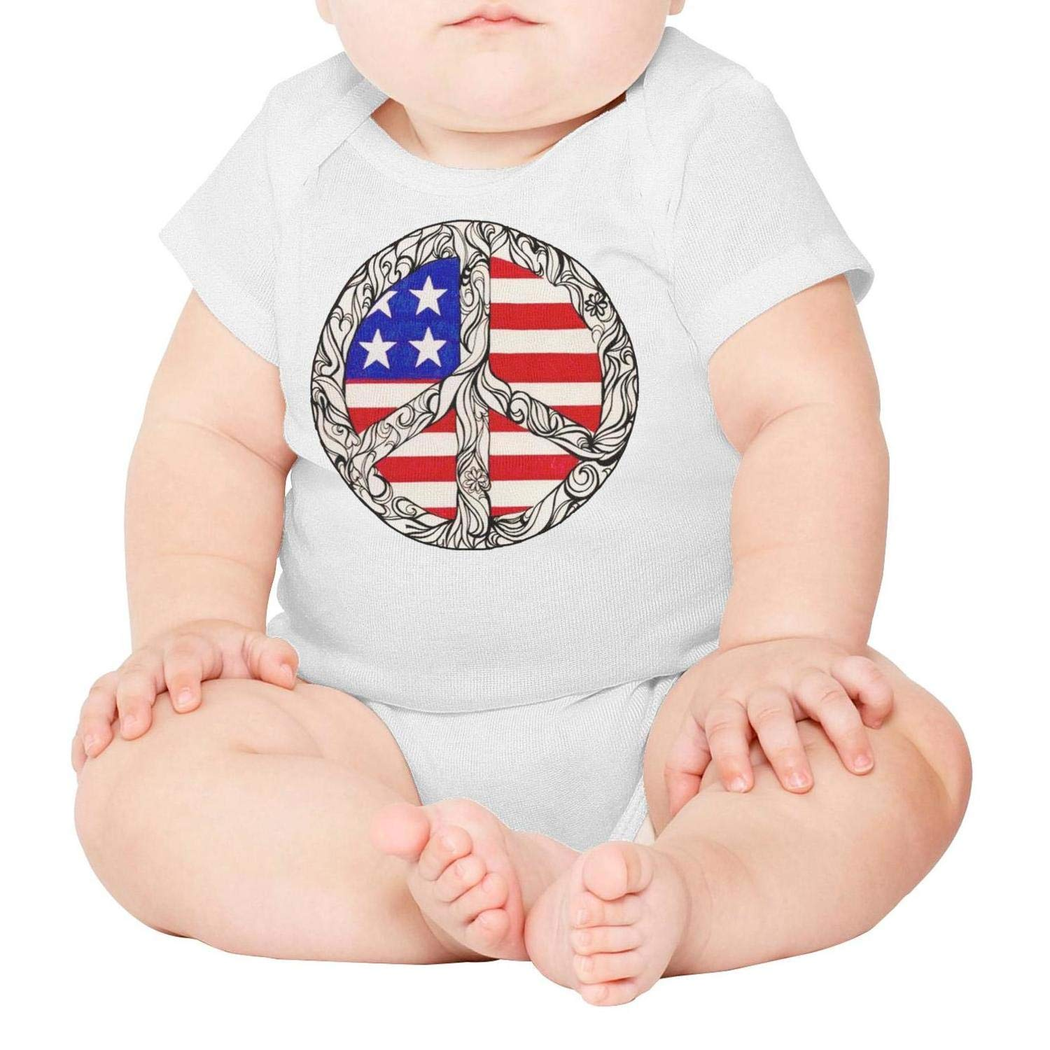 Baby Onesies Peace Corps 100/% Cotton Newborn Baby Clothes Cute Short Sleeve Bodysuit